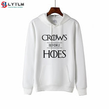LYTLM Rock Halloween Hoodies Boys Crows Before Hoes Teen Girls Sweatshirts Night's Watch Toddler Girl Clothes Valar Morghulis(China)