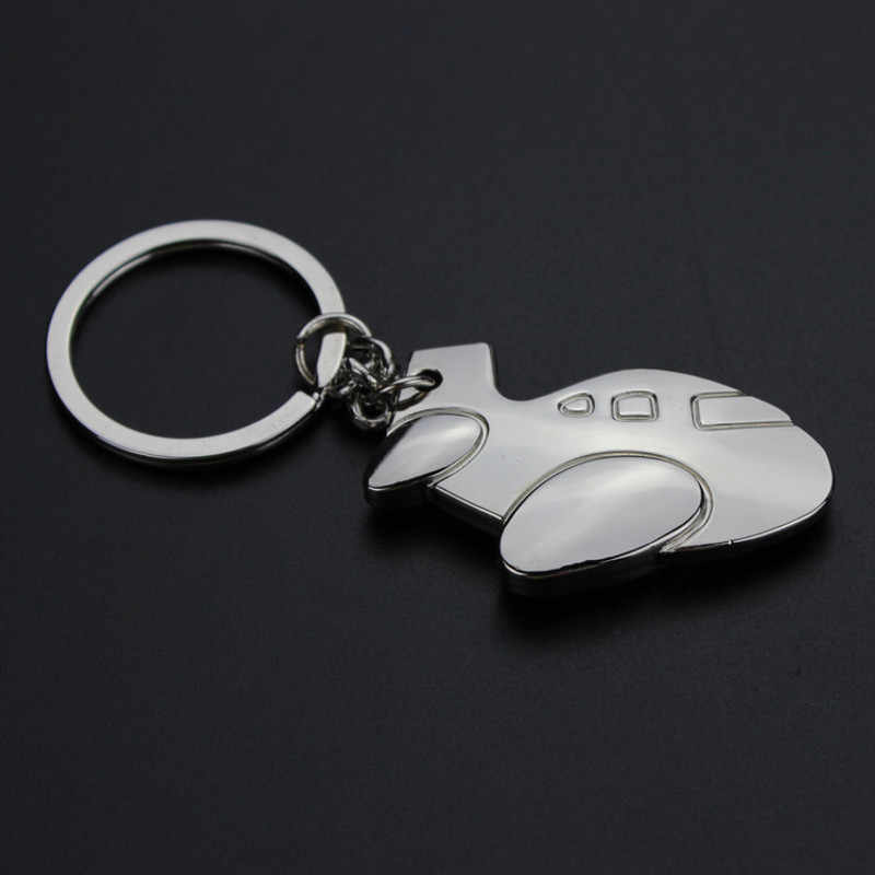 Air Plane Airliner Aircraft Airplane keychain Men Women Bag Charm Key Rings Jewelry Car Keyring nightmare before christmas Gift