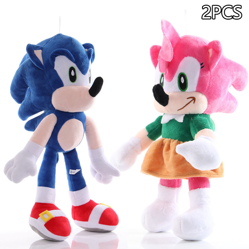 28cm Sonic Plush Toy Amy Rose Sonic-shadow-silver The Hedgehog Tails Knuckles The Echidna Soft Stuffed Animals Doll Child Gifts