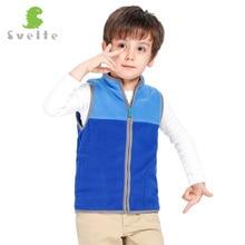 SVELTE for 2 7Y Boys Solid Hit Color Paneled Fleece Sleeveless Vest Waistcoat Woolen Outerwear Jacket Spring Fall Winter Warm