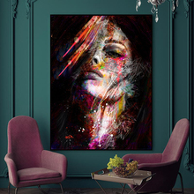 Abstract Graffiti Art Wall Paintings Print On Canvas Prints Modern Girls Oil For Living Room Decor