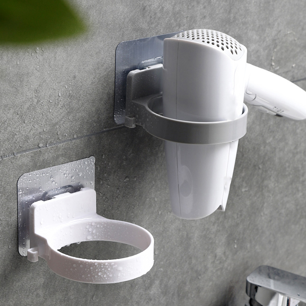 Durable Bathroom Wall Mounted Hair Dryer Holder ABS Bathroom Storage Shelf Creative Convenient Bathroom Shelf