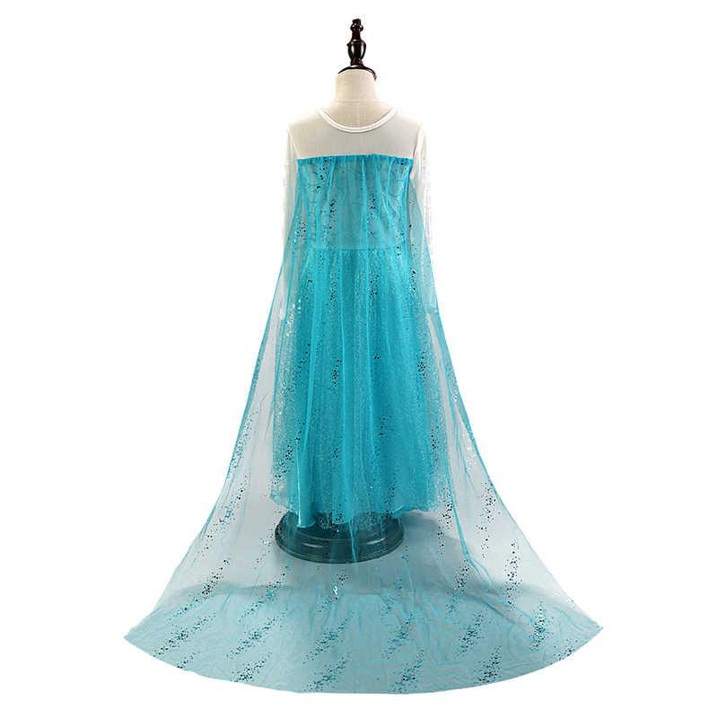 Phantasie Baby Mädchen Prinzessin Kleider für Mädchen Elsa Kostüm Bling Synthetische Kristall Mieder Elsa Party Kleid Kinder Schnee Königin Cosplay