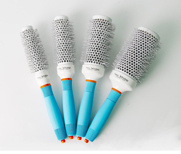 Ceramic Ion Professional Salon Portable Hair Brush Hair Styling Hairbrush Hairdressing Comb Round Curly Hair Rollers Tools 1pcs