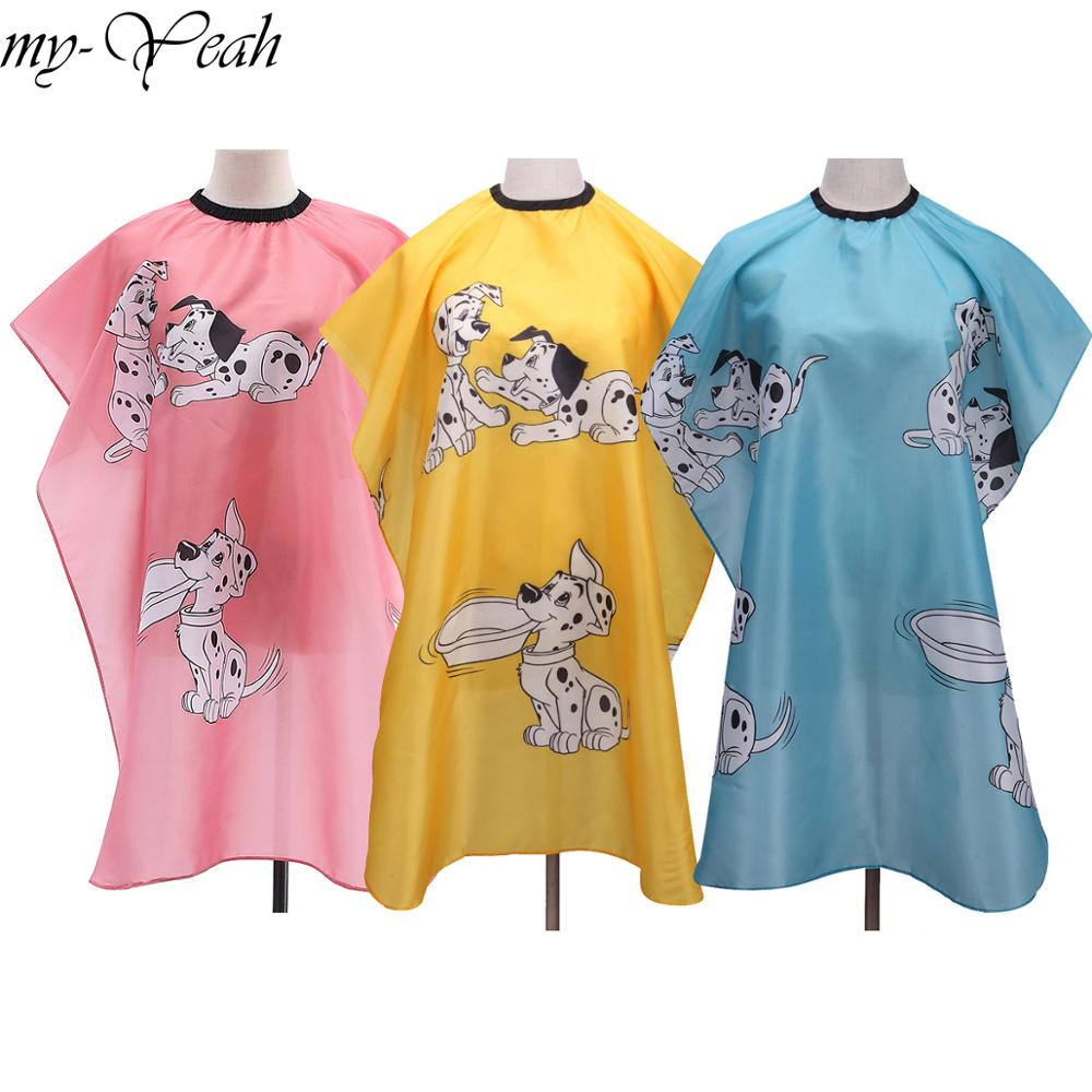 Hairdressing Children Kid Cartoon Cape Waterproof Hair Cutting Dyeing Clothes Manteau Apron Wrap Pro Salon Barber Styling Tools(China)