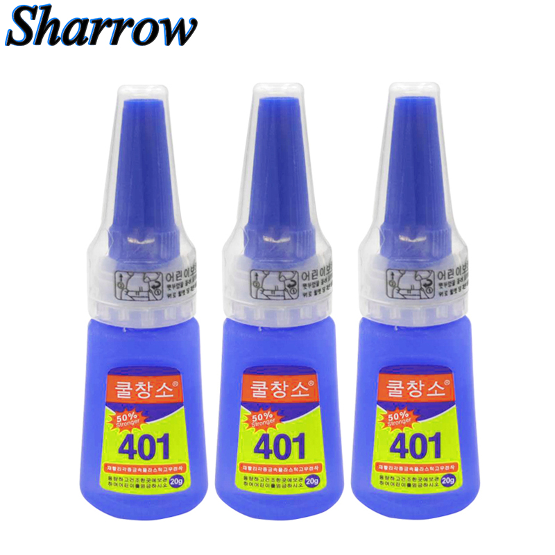 Authentic 401glue Fast Adhesive Archery Arrow Fixed Feather Fixed High Strength Transparent Acrylate 20g Bottle Stronger