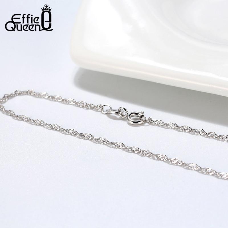 Effie Queen 40cm 45cm 50cm 925 Sterling silver hummerlås justerbar - Fina smycken - Foto 5