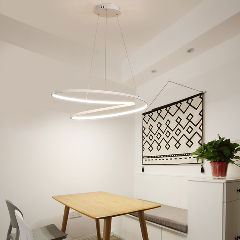 novo moderno led lustre para quarto