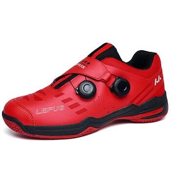 2020 новый бренд с длинным рукавом мужская Профессиональные красная обувь для бадминтона на открытом воздухе Нескользящие Badminto работает кроссовки светильник спортивные Baminton обувь