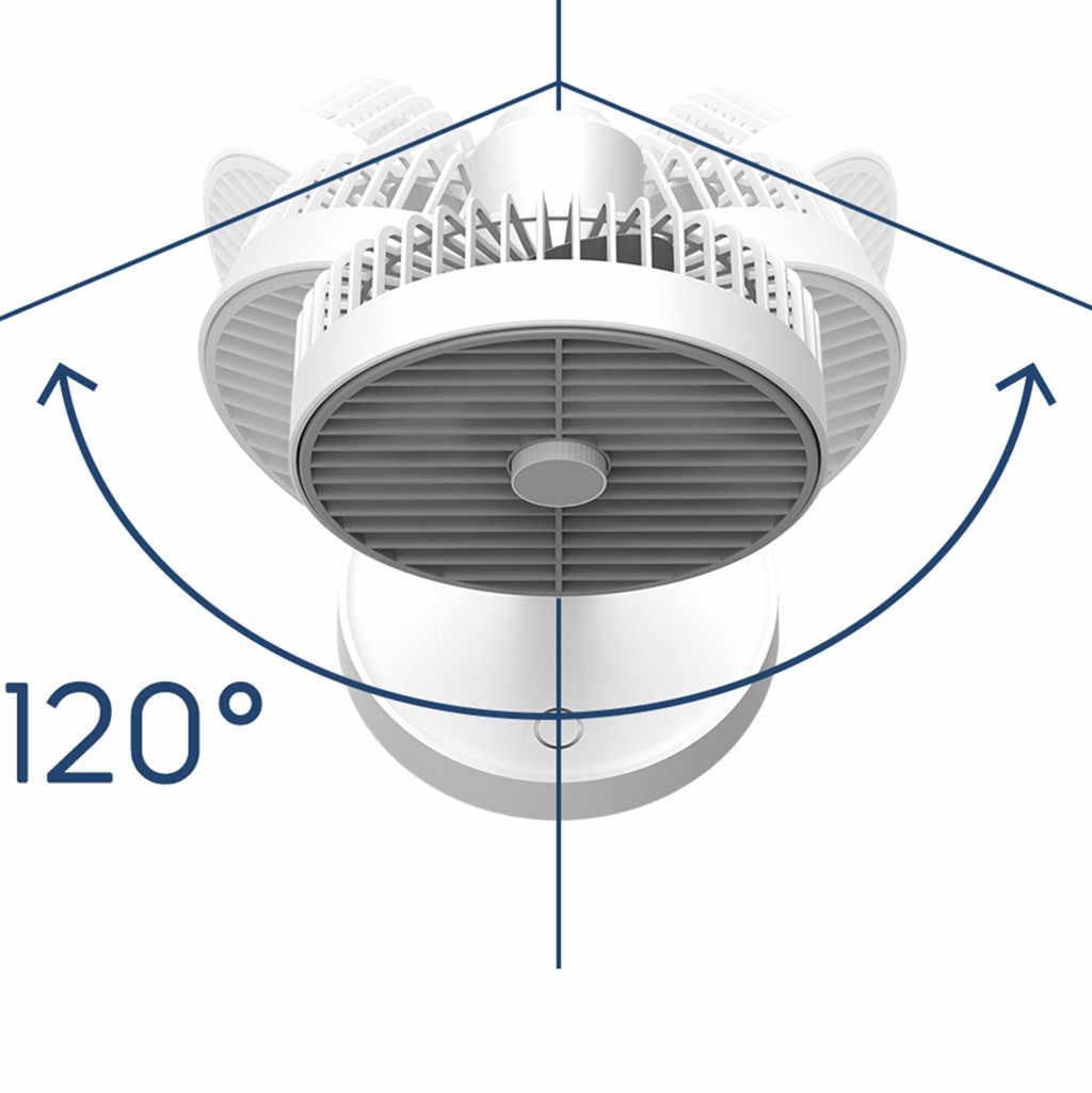 Taşınabilir Fan USB Mini elektrikli Fan salınan küçük renkli akıllı ev çok fonksiyonlu yaz soğutucu fan 4-Speed rüzgar ayarlanabilir