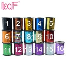 LOOF 100 рулонов 2000 м (78740 дюйма)/рулон, цветная мишура для наращивания волос, самые дешевые удлинители волос