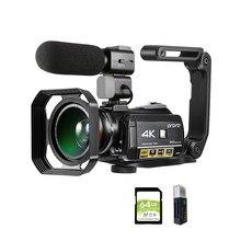 Videocamera videocamera digitale 4K Ordro AC3 YouTube rugby videocamere Vlog Filmadora con stabilizzatore per microfono