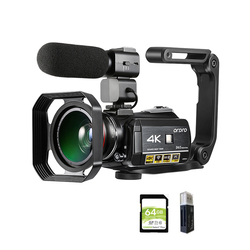 Video Camera 4K Digital Camcorder Ordro AC3 YouTube Blogger Vlog Cameras Filmadora with Microphone Stabilizer