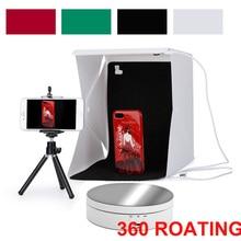 새로운 360 학위 전기 회전 턴테이블 디스플레이 스탠드 최대로드 3kg 비디오 촬영 소품 텐트 라이트