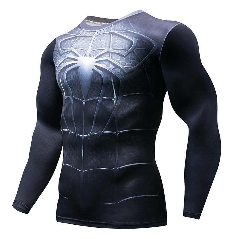 ใหม่ 2019 จุดแขนสั้นผู้ชายสงครามกลางเมืองการบีบอัดเสื้อยืด Marvel Avengers เสื้อผ้าการ์ตูน Super ผู้ชายเสื้อยืดเสื้อ