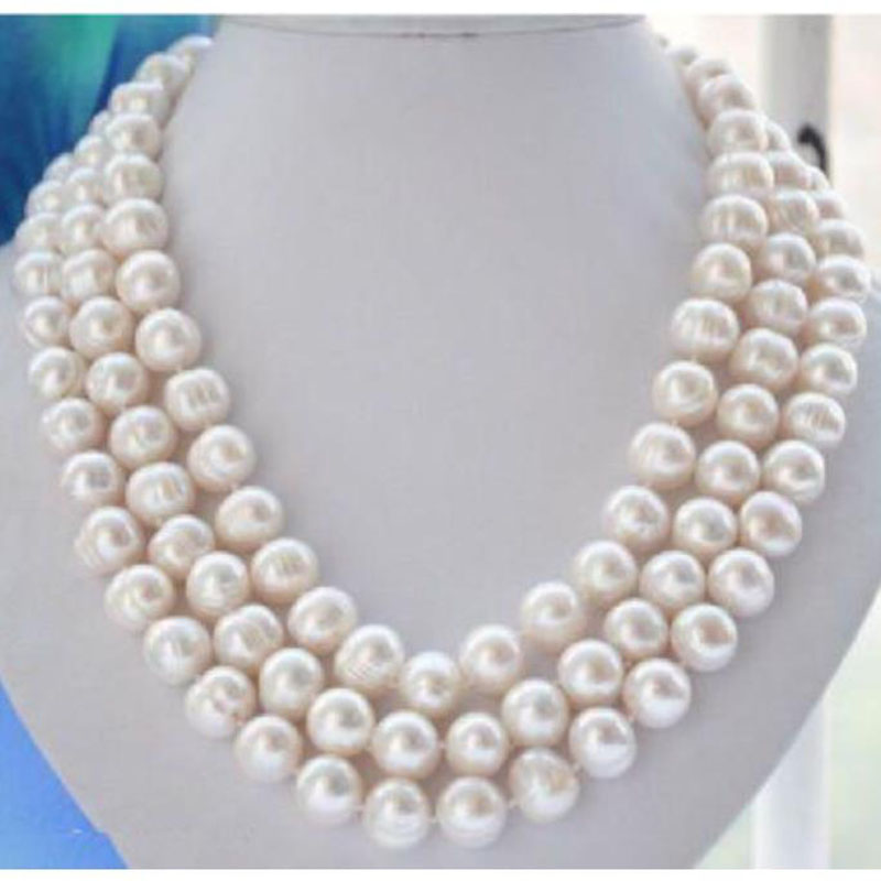 """natural 18/"""" AAA 11-10 MM SOUTH SEA NATURAL White PEARL NECKLACE"""
