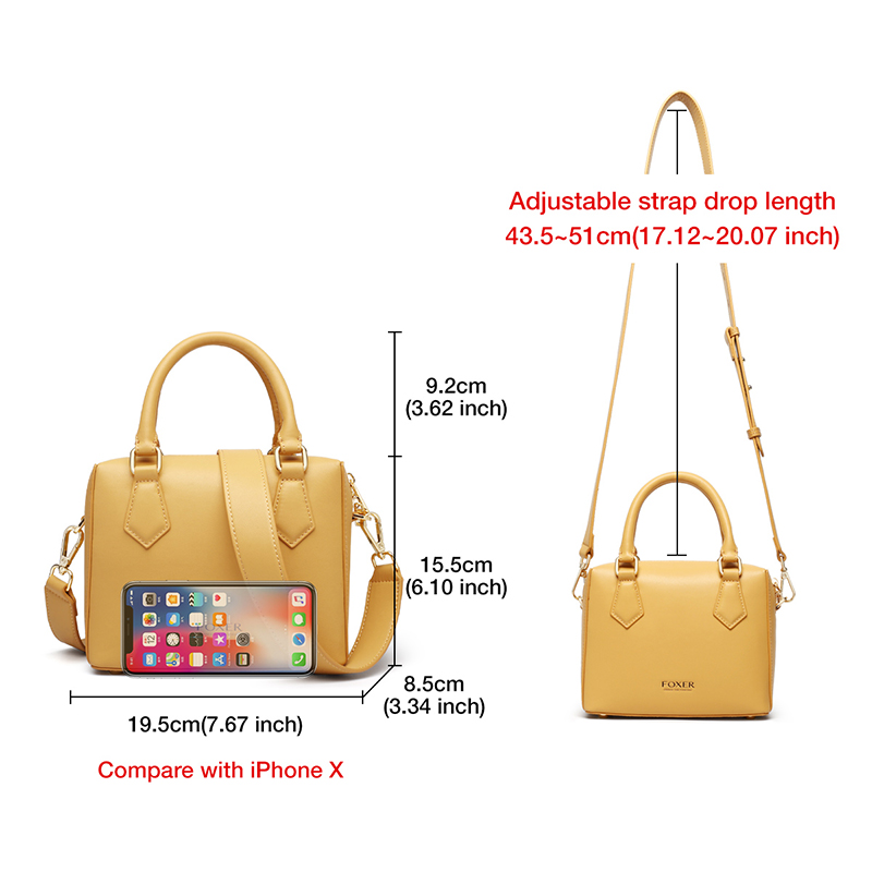 Foxon Bosty Women Handbag Leather Boston Bag