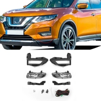 Car Front Fog Lights Bumper Daytime Running Turn Signal Lamps Harness Switch Kits for Nissan Rogue X Trail 2017 2018