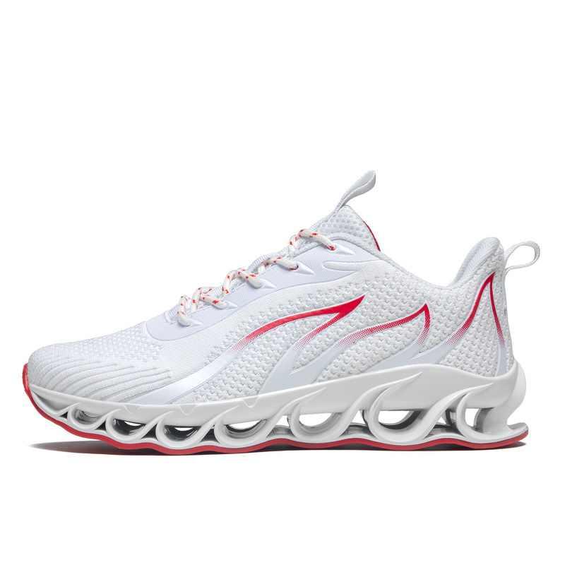 Yeni koşu ayakkabıları bıçak yastıklama spor ayakkabı erkekler için nefes spor ayakkabı açık atletik eğitim yürüyüş spor ayakkabı