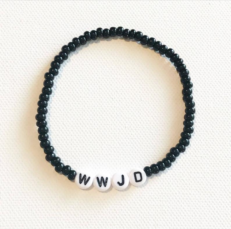 1pc WWJD Bracelet, Religions Bracelet, What Would Jesus Do Bracelets, Christian Jewelry, Religious Jewelry, Religious