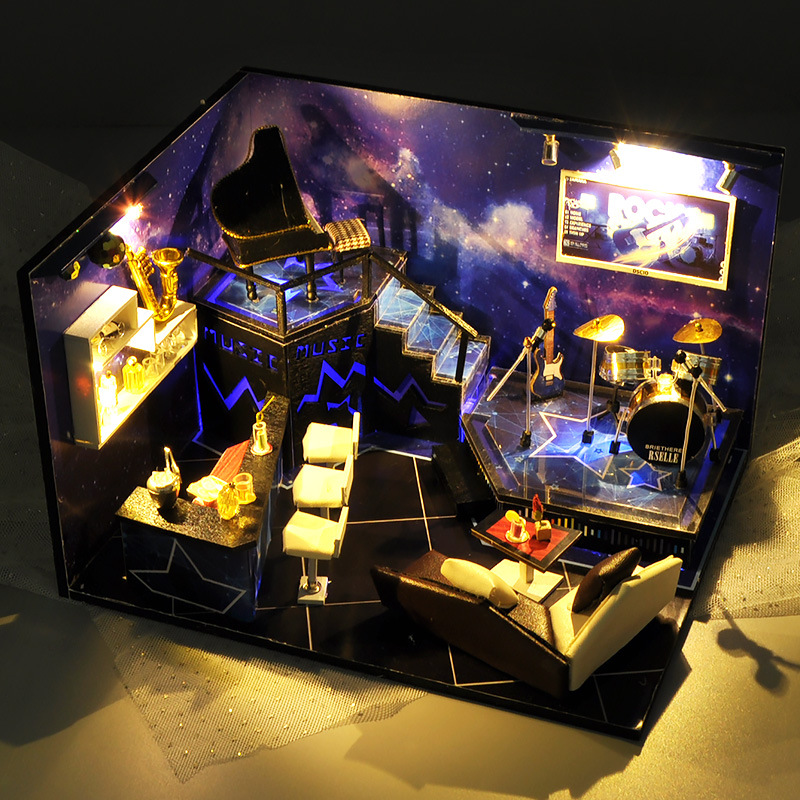 Let's Rock to the Stars DIY 3D Miniature Bar