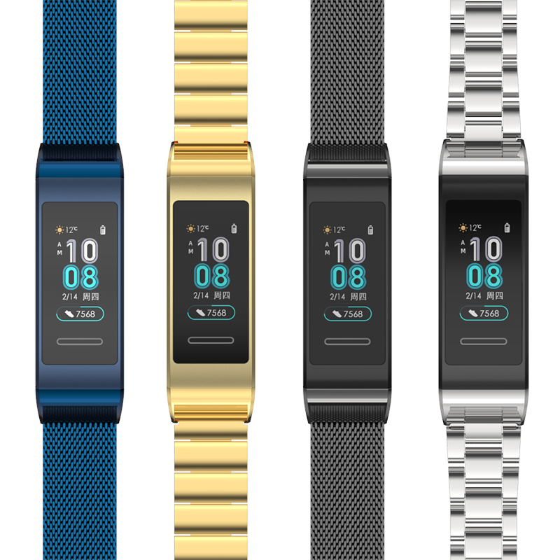 Watch Strap Bracelet For Huawei Band 3 Metal Wrist Strap Smart Wristbands  For Huawei Band 3 Pro Strap Replacement Pulsera