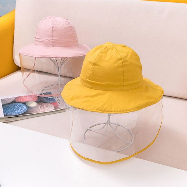 Protective Baby Hat 2020 Kids Bucket Hat for Girls Boys Prevent Wind Sand Spittle Face Mask Kids Cap Child Hats 2
