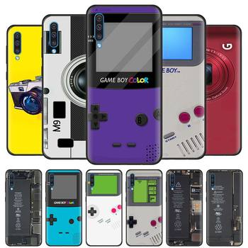 Battery Camera Gameboy Case for Samsung Galaxy A70 A50 A90 5G A40 A30 A20 A70s A10 s A20e A10e Black Silicone Phone Covers image
