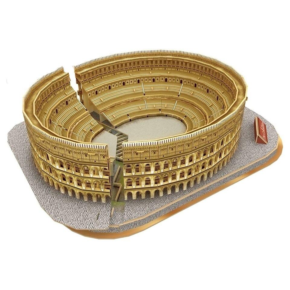 Monde célèbre Architecture Puzzles italie Rome colisée Architecture modèles Kits 3d bâtiment Puzzle jouet