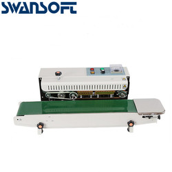 SWANSOFT FR-770 Continuous Film Sealing Machine Plastic Bag Packing PVC Membrane Machine Band Sealer Horizontal Sealer