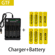 100% nowa oryginalna bateria 18650 3.7V 9900mAh akumulator liion do Led bateria do latarki 18650 bateria hurtowa + USB