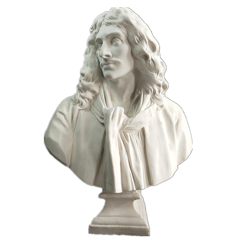 Mini Gypsum Statue Moliere Marcus Junius Brutus Caepio Ariadne Pageant Art Sculpture Resin Crafts Decorations Art Material R3229
