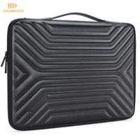 DOMISO 10 13 14 15,6 Zoll Stoßfest Wasserdichte Laptop Hülse mit Griff Leichte, Weiche EVA Tablet Fall für Laptops Schwarz