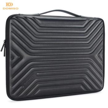 DOMISO 10 13 14 15.6 Inch Shockproof Waterproof Laptop Sleeve with Handle Lightweight Soft EVA Tablet Case for Laptops Black