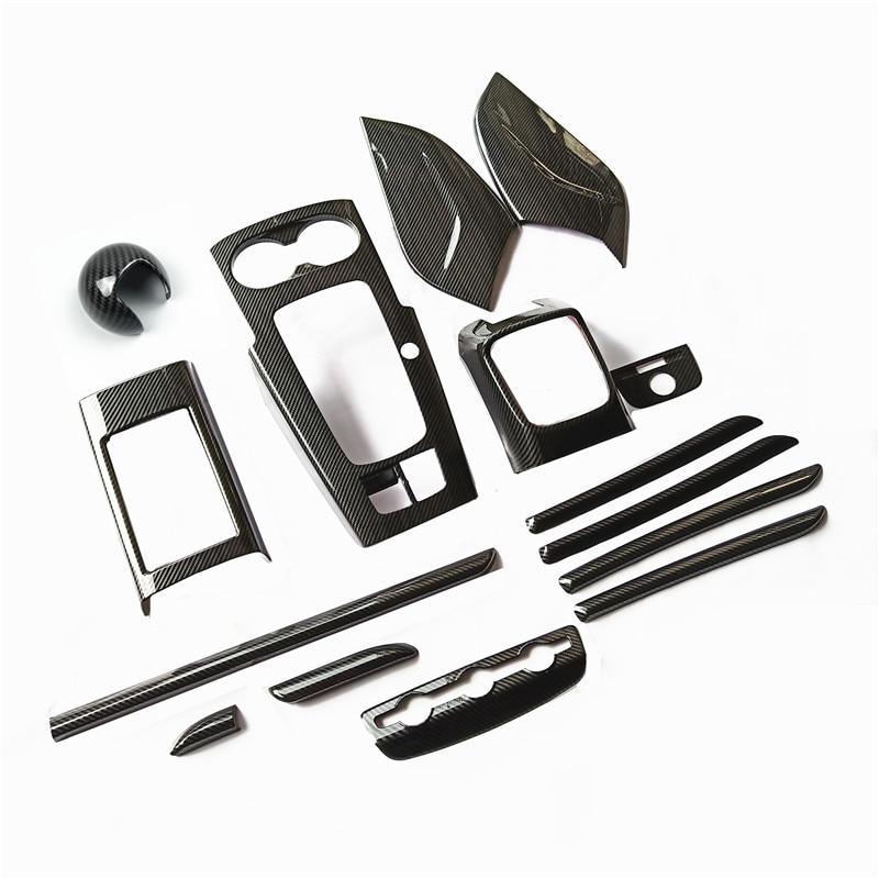 Center Console Gear Shift Frame Decoration Carbon Fiber Color For Audi A3 8V 2014-18 ABS Air Condition Outlet Panel Decorative
