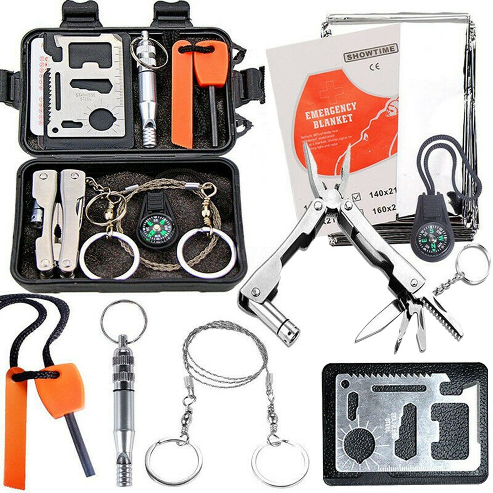 Outdoor Survival Treasure Box Survival Tool Set Multifunctional Field First Aid Kit Sos Emergency Supplies
