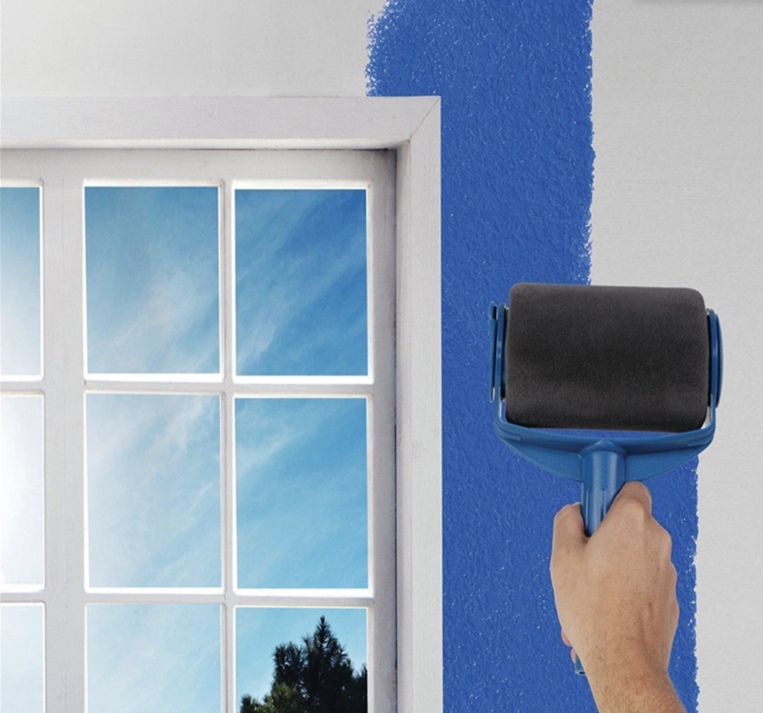 8pcs Wall Decorate Painting Roller Brush Set Paint Runner Pro Brush Kit Multifunctional House Paint Rollers Runner Pro Tools Set
