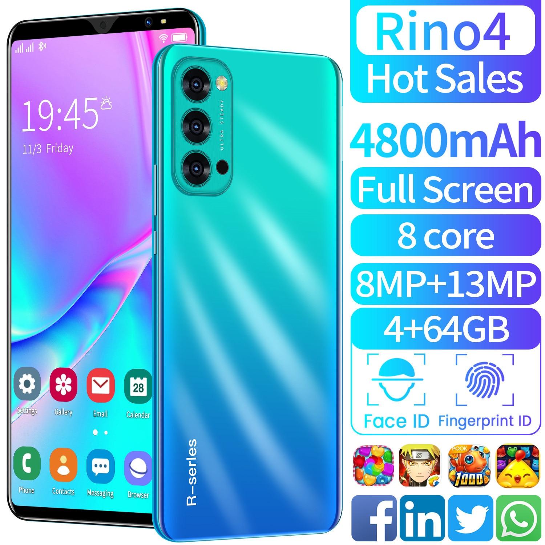 "Globale Version SmartPhone RION4 Android 10,0 5.5 ""Full Screen 4GB 64GB 13MP Kamera 4800mAh GPS WiFi 4G telefon"