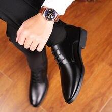 Mazefeng homens sapatos de couro casuais de alta qualidade oxfords masculinos sapatos de couro genuíno sapatos de negócios formal sapato plus size casamento 44