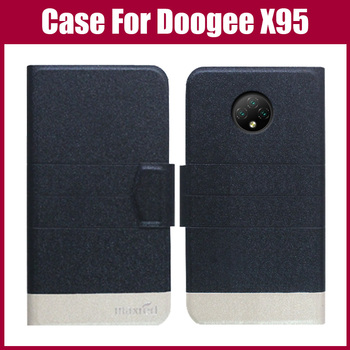 Hot Sale! Doogee X95 Case 5 Colors Flip Ultra-thin Fashion Leather Phone Protective Cover For Doogee X95 Case Fundas
