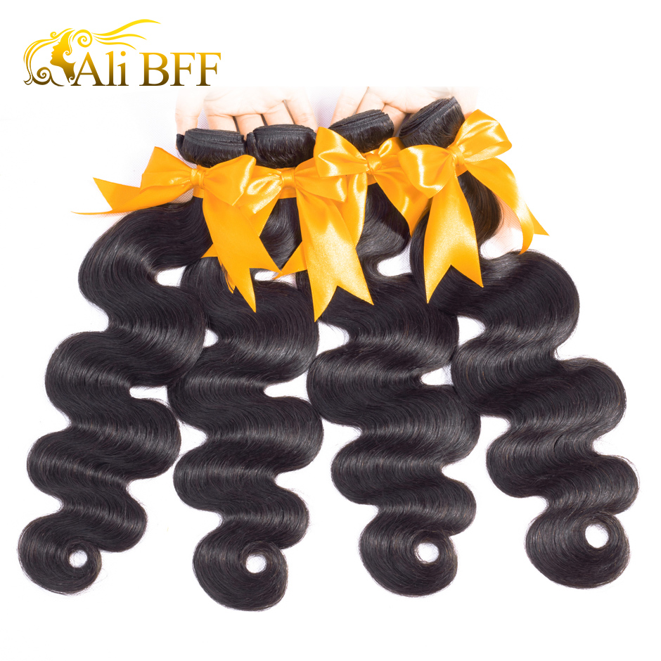 Tissage en lot Body Wave malaisien Remy-ALI BFF | Cheveux naturels, extension capillaire 1 pièce, peut acheter en lot de 3 ou 4