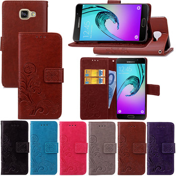 A5 2016 Case Slim Leather Flip Cover for Samsung Galaxy A5 2016 A510F SM-A510F Case Wallet Card Magnetic case for Samsung A52016 image