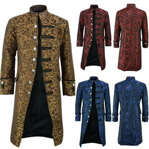 Jacket Cosplay Edwardian Vintage Costume Steampunk Overcoat Medieval Prince Renaissance