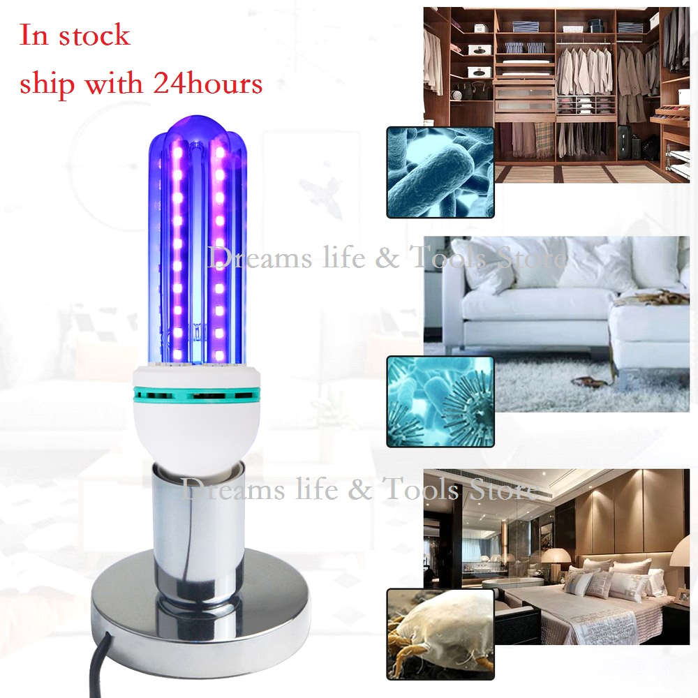 UV Disinfection Lamp Quartz For Bactericidal Ultraviolet Light UVC Germicidal Sterilization CFL Kill Mites Deodorizer Ozone Lamp