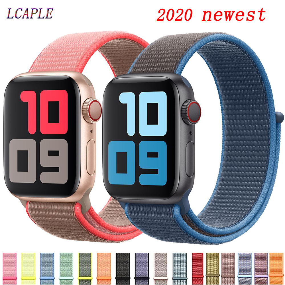 Strap For Apple Watch 5 Band 44mm 40mm Nylon Comfortable Watchband Correa Pulseira Applewatch 5 4 3 2 1 Iwatch Band 42mm 38mm 44