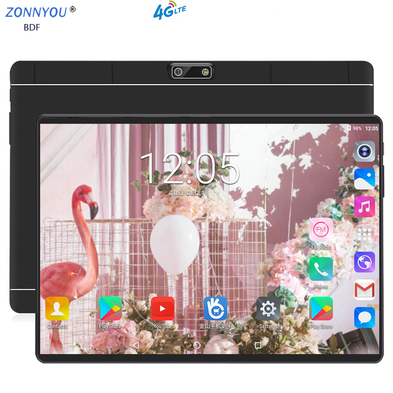 2019 New 10.1 Inch Tablet PC Octa Core 4GB RAM 64GB ROM Dual SIM 8.0MP Bluetooth Wi-Fi IPS10.1 Tablets Android 8.0+Gifts