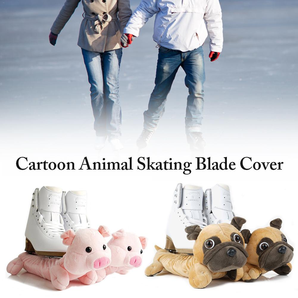 1 para zwierząt hokej na lodzie rysunek Skate Blade obejmuje buty osłony frotte chroni ostrze przed rdzewieniem odpryski akcesoria