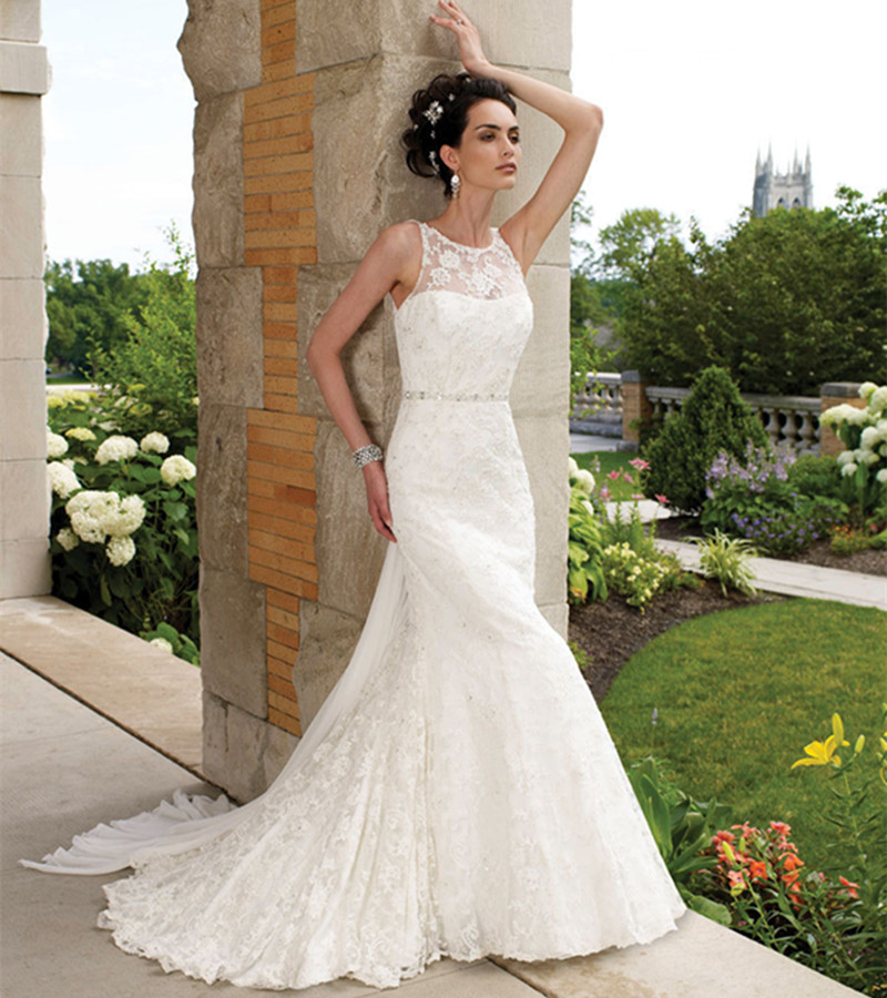 High Quality Sleeveless Lace Sexy Backless Bridal Gown Chapel Train Vestido De Noche Robe De Mariee Mother Of The Bride Dresses