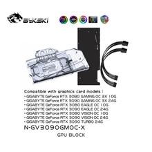 Bykski uso bloco de água para gigabyte rtx 3080 jogos oc 3x 10g/3090 eagle oc/turbo 24g/bloco de cobre/backplate rgb aura