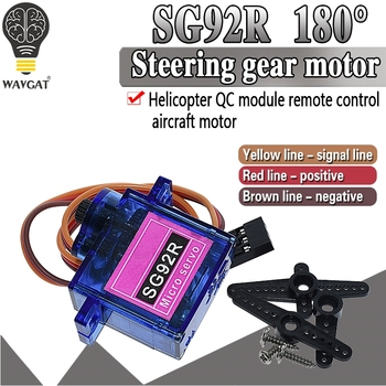 SG92R 2.5KG Micro 9g Servo Nylon Carbon fiber Gears Replace SG90 For RC Model Aeromodelling Helicopter Parts - discount item  5% OFF Active Components